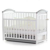 Детская кроватка Верес соня ЛД6 120*60 маятник с ящиком бело/серый