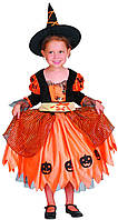 """Детский карнавальный костюм """"Ведьма тыквенная"""""""