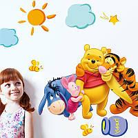 Интерьерная виниловая наклейка Дисней Винни Пух и друзья в детскую комнату
