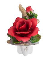 Фарфоровый ночник (светильник) Роза Pavone CMS - 16/ 6