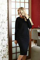 Стильное, удобное, свободное платье, длинный рукав черное, фото 1
