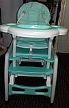 Детский стульчик для кормления BAMBI  М 1563 -12-1 трансформер., фото 7