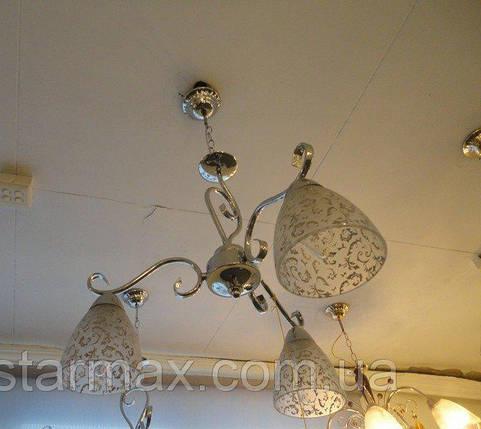 Люстра потолочная,  красивая люстра, 3 лампы, подвесная, фото 2