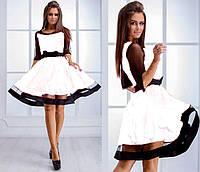 Нарядное платье с прозрачными рукавами и пышной юбкой  Comely