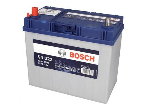 Аккумулятор Bosch S4 45Ah EN330A L+ Asia (S4022) тонкие клемы, фото 2