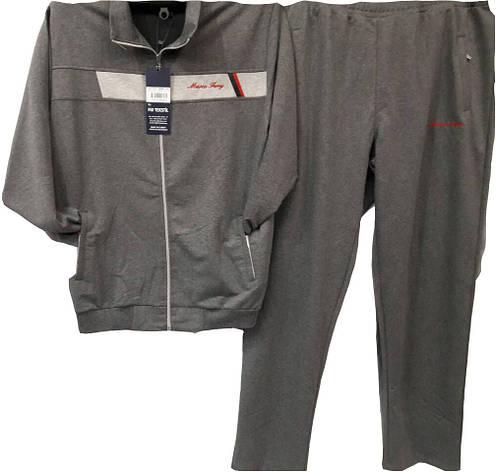 Костюм спортивный мужской Marсo Ferry Батал серый, фото 2