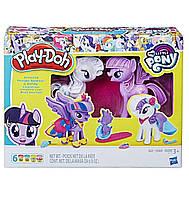 Игровой набор Play Doh Твайлайт и Рарити. Play-Doh My Little Pony Princess Twilight Sparkle and Rarity Fashion, фото 1