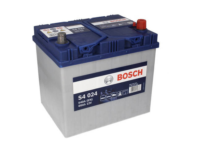 Аккумулятор Bosch S4 60Ah EN540A R+ Asia (S4024)