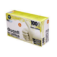 GUL100BLL  Перчатки латексные 100шт. SAFE LATEX