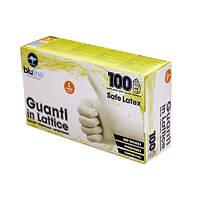 GUL100BLS  Перчатки латексные 100шт. SAFE LATEX