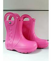 Сапоги Детские Crocs Резиновые Оригинал Розовые Крокс