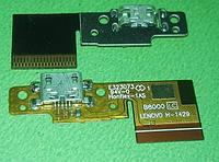 Шлейф (Flat cable) с коннектором зарядки для Lenovo Yoga Tablet 10 B8000
