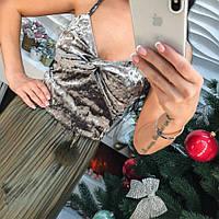 Костюм велюровая майка и юбка из органзы