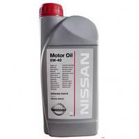 Моторное масло NISSAN 5W40 (1л.) оригинальное синтетическое моторное масло NISSAN