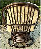 Обертове крісло-качалка з ротангу , фото 2