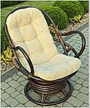 Обертове крісло-качалка з ротангу , фото 3