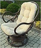 Обертове крісло-качалка з ротангу , фото 4