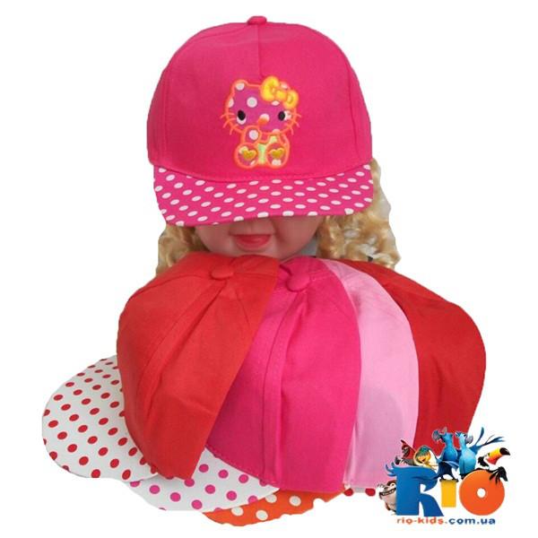 Детская кепка Рэп, для девочки р-р 48-50 (5 ед в уп)
