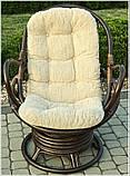 Обертове крісло-качалка з ротангу , фото 5
