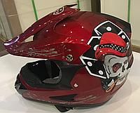 Шлем детский кроссовый красный