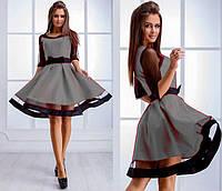 Нарядное платье с прозрачными рукавами и пышной юбкой  Comely Bordo, M
