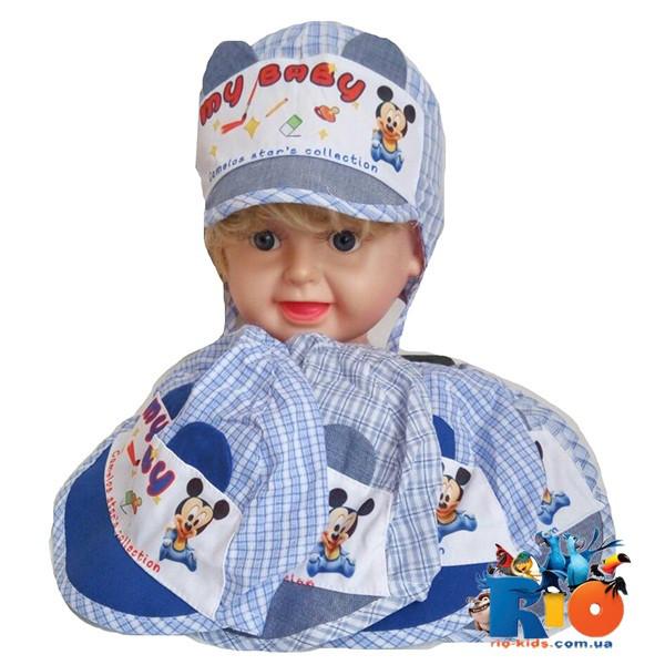 Детская летняя кепка (100% cotton), для мальчика р-р 46 (5 ед в уп)