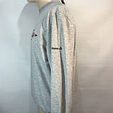 Мужская спортивная кофта р. хххл (большой размер) / светло-серая, фото 3