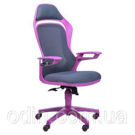 Кресло Spider GTX сетка серая, каркас фиолетовый 512447