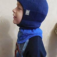 Зимняя шапка - шлем с защитой для ушек (Польша, Agbo) хлопковая подкладка, для мальчиков