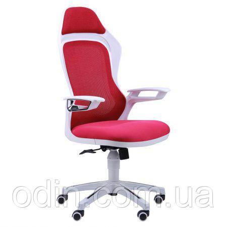 Кресло Spider GTX сетка красная, каркас белый 512446