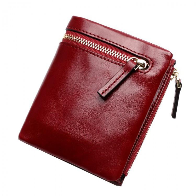 Кошелек женский кожаный Beverly красный eps-4049