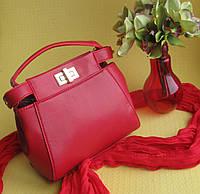 Cумка Fendi реплика, красного цвета.