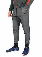 Серые мужские спортивные штаны с манжетами ADIDAS, фото 1