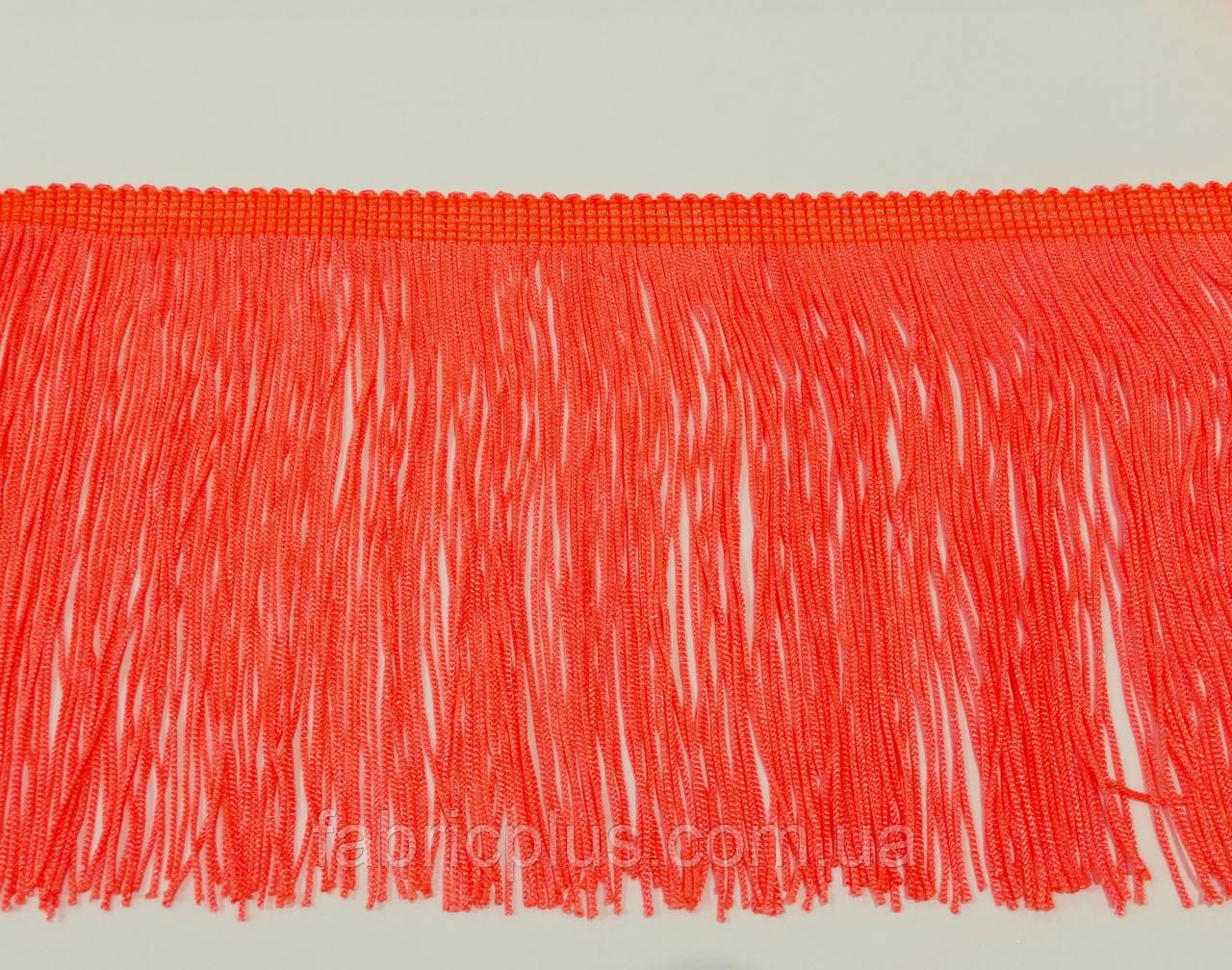 Бахрома танцювальна 15 см помаранчевий неон