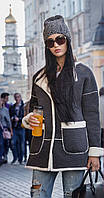 Шерстяное пальто на евро зиму женское Style 42–48р. в расцветках остатки остатки