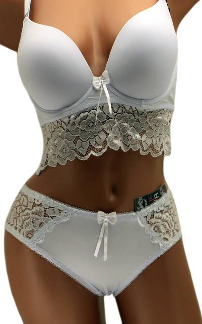 Комплект женского нижнего белья белый 70792