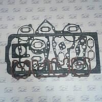 Набор прокладок двигателя Д-144, Т-40 (без медной прокладки) (паронит 0,8 мм.)