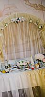 Готовый декор на свадьбу, выездную церемонию в бело золотых цветах