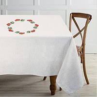 Скатерть белая на стол 150x150