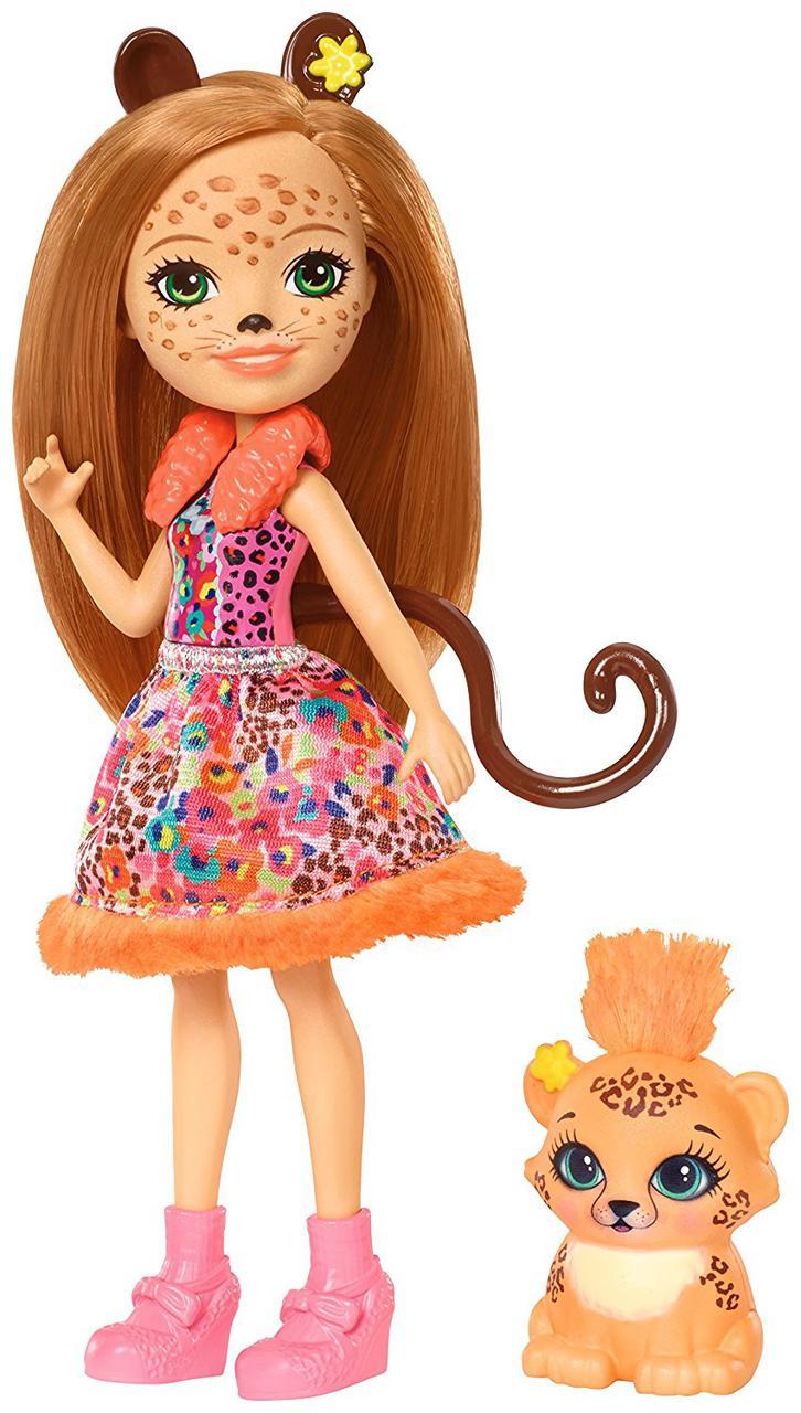 Кукла Энчантималс Гепард Чериш и Квик Квик Enchantimals Cherish Cheetah Doll with Quick-Quick