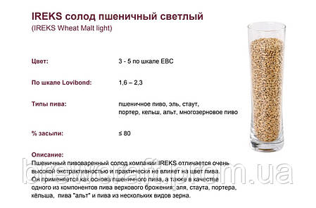 Солод немецкий светлый пшеничный Ireks Wheat Malt  -  1 кг, фото 2