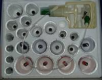 Вакуумные антицеллюлитные массажные банки Bao Yi Pull Out A Vacuum Apparatus 24 штуки + насос с магнитами