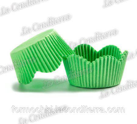 Формы-ромашки для кексов зеленые РМ-7 (диаметр дна - 50 мм, высота бортика - 23/30 мм), 2000 шт.