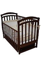 Детская кроватка Верес соня ЛД6 120*60 маятник с ящиком орех