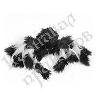 Паук из меха 30см (черный с белым)