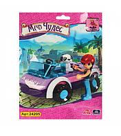 "Детский развивающий конструктор игрушка AUSINI (Аусини) ""Мир чудес"" 24205 (360шт) машина, фигурка, собачка"