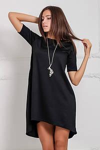 Жіноче чорне асиметричне плаття Lily (XS-XXL)