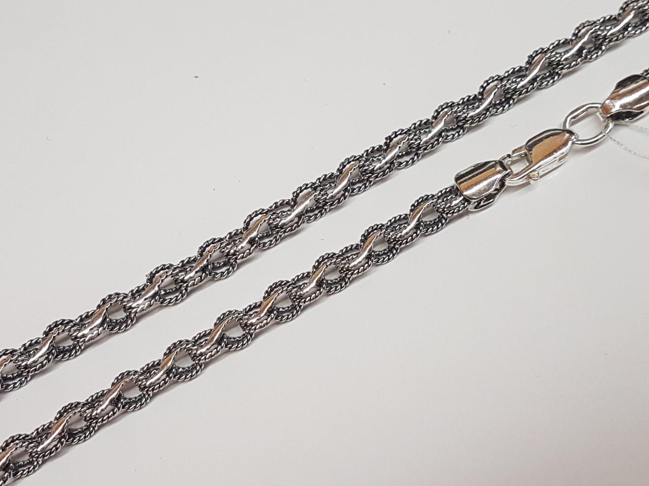 Серебряная цепочка (Ореховый). Артикул 1051-ч 55