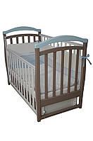 Детская кроватка Верес соня ЛД6 120*60 маятник с ящиком капучино/голубой