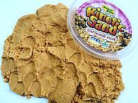Кинетический песок Supergum Золотой с блестками  для творчества 1000 гр + Формочки Украина Умный песок